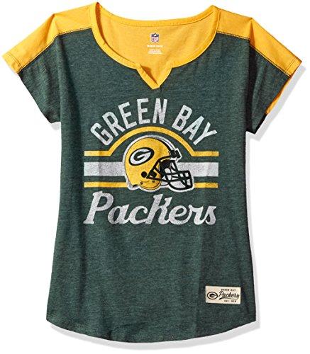 "Outerstuff NFL Girls 7-16""Tribute Football Tee -Hunter-XL(16), Green Bay Packers"