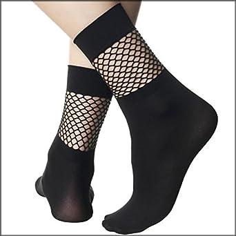 POMPEA - Calcetines - para mujer Negro Negro Talla única