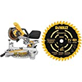 "DEWALT DCS361B 20V Max Cordless Miter Saw (Tool Only) with DEWALT DW7114PT DEWALT DW7114PT 40T Precision Trim Miter Saw Blade, 7-1/4"""