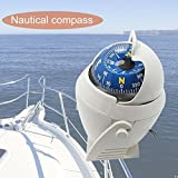 1 Set White Precision LED Light Electronic Vehicle Car Compass Keychain Sea Marine Military Boat Ship Navigation Survival Emergency Life Excellent Popular Outdoor Camping Backpack Map Guide Tools Kits