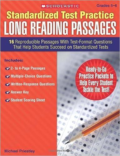 Amazon com: Standardized Test Practice: Long Reading Passages