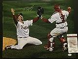 Autographed/Signed Brad Lidge w/Ruiz Philadelphia Phillies 16x20 Baseball Photo JSA COA