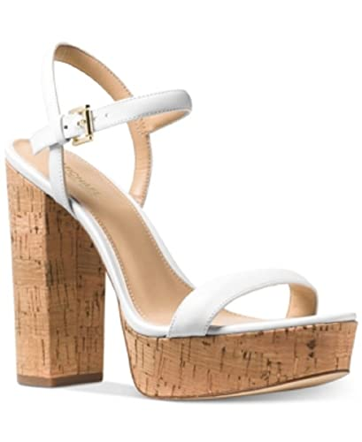 357414aaf661 Image Unavailable. Image not available for. Color  Michael Kors Dallas  Platform Sandals Optic White 7 M US