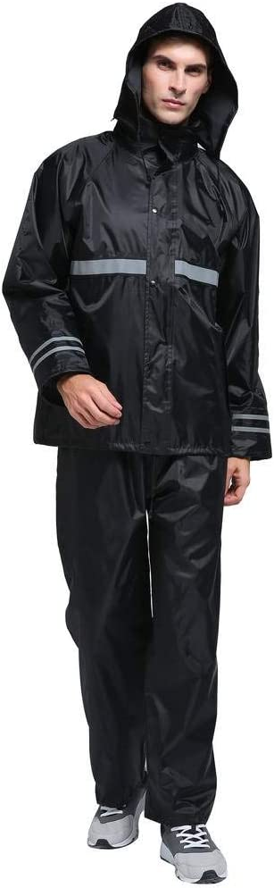 Maiyu Motorcycle Rain Suit Waterproof Rain Jacket and Pants Set 2 Piece Rain Gear For Adult