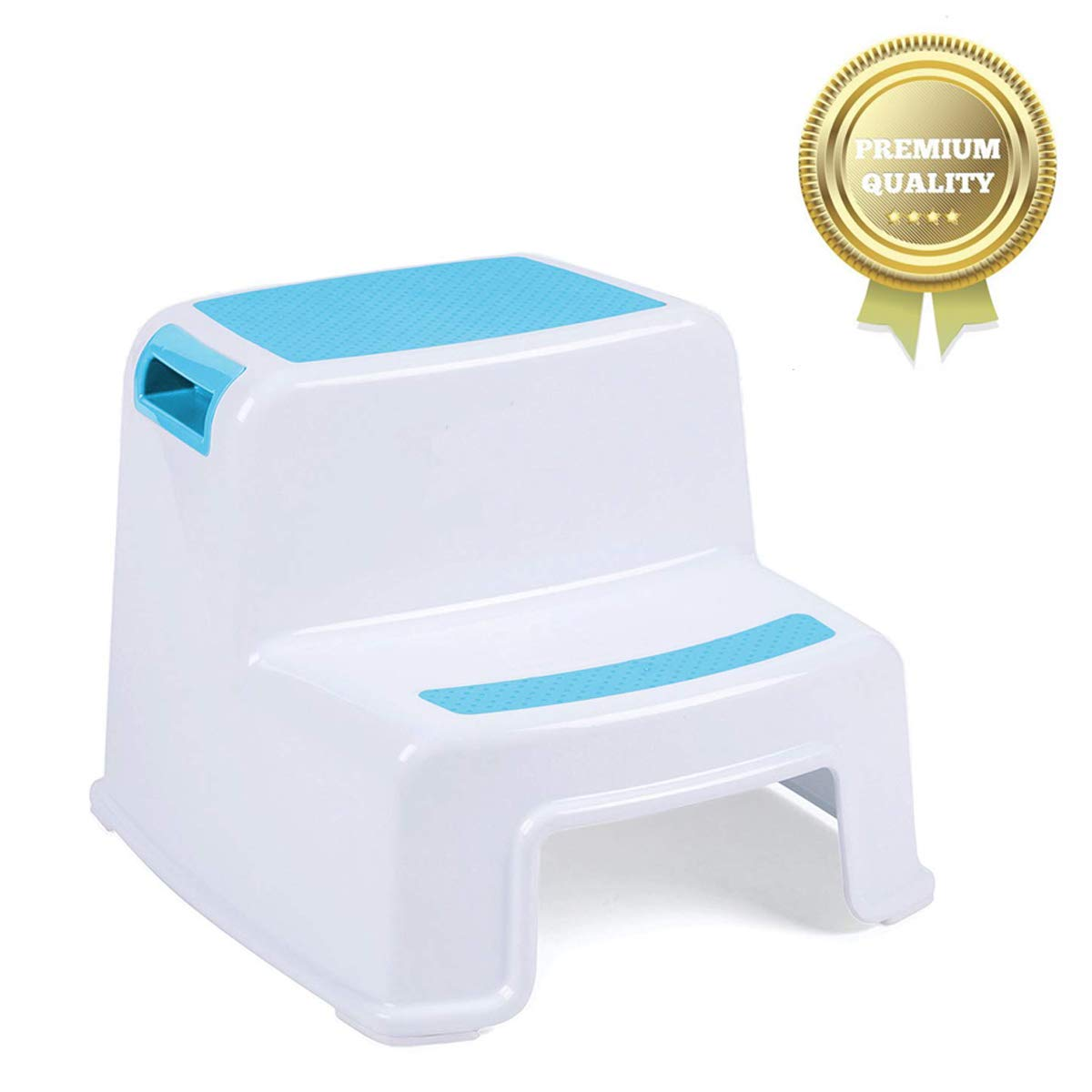 Versatile Two-Step Design for Growing Children Dual Height Step Stool for Kids Green Toddlers Stool for Potty Training and Use in The Bathroom or Kitchen