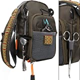 FanBell®Fly Fishing Chest Pack Lightweight Chest Bag,Fishing Tackle Bag Crossbody Messenger Sling Bags