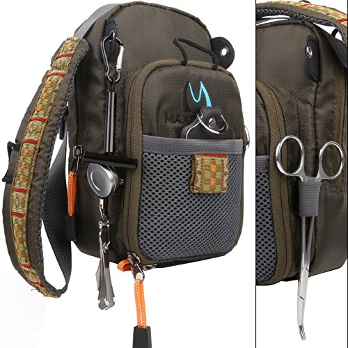 FanBellFly Fishing Chest Pack Lightweight Chest Bag,Fishing Tackle Bag Crossbody Messenger Sling Bags Without Tools (Fishing Fly Chest Packs)