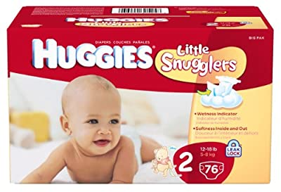 Huggies Little Snugglers Diapers, Size 2, 76 Count by Huggies