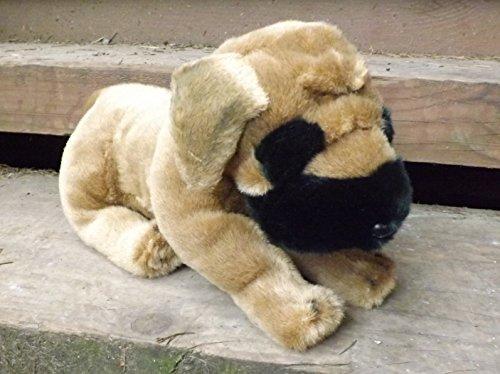 "Mastiff Puppy Stuffed Toy Animal - 14"" Plush Toy Mastiff"