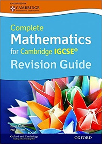 Book Complete Mathematics for Cambridge IGCSERG Revision Guide by Rayner, David, Williams, Paul (2014)
