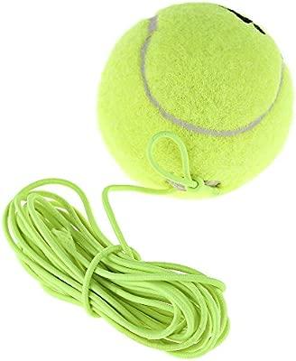 Drill entrenador de tenis pelota de tenis de resistencia con bola de lana de goma elástica cuerda cadena de repuesto