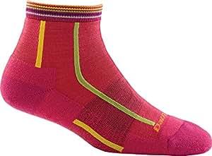 Darn Tough Bermuda Stripe Quarter Height Light Cushion Sock - Women's Berry Small