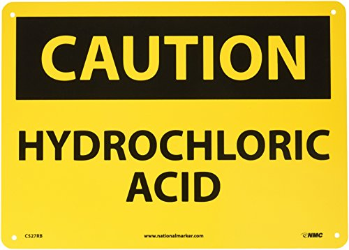 Hydrochloric Acid Sign (NMC C527RB OSHA Sign, Legend