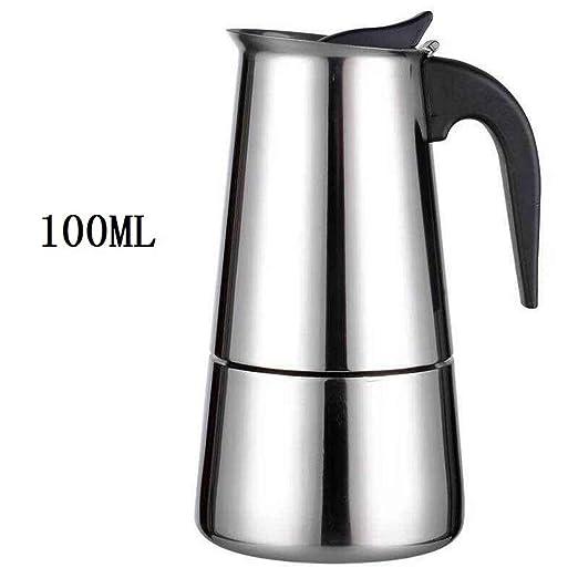 Cafetera moka de acero inoxidable con válvula de alivio de ...