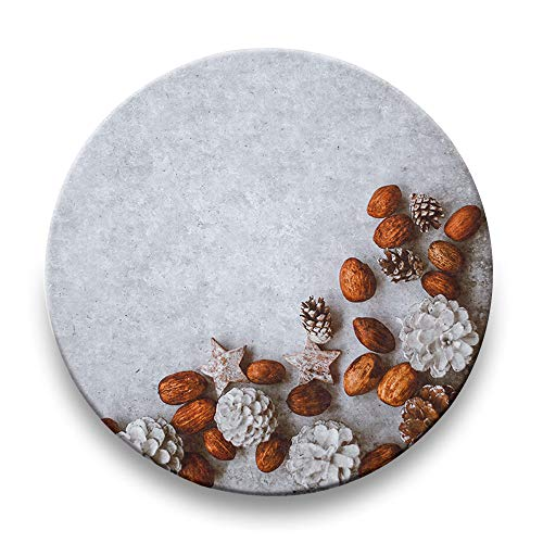 Fix Top Dining Table - Christmas – Winter – Lights – Ornaments – Wreaths – Absorbent Ceramic Drink Coasters Set of 4