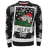 Weihnachtspullover mit Elfen Selfie