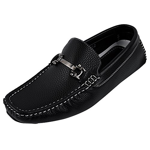 Brixton Men`s Payne Loafer Shoe (10, Black)
