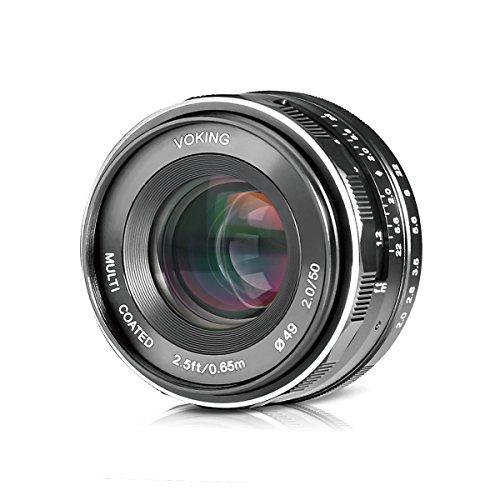 - Voking 50mm f/2.0 Large Aperture Manual Focus MFT M4/3 Lens APS-C for Micro 4/3 System Olympus Panasonic Lumix Mirrorless Cameras