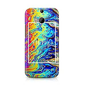 The 1975 Colorful Paint Rad Tye Dye Soap Film Trippy Holographic Hard Plastic Snap-On Case For HTC ONE m8