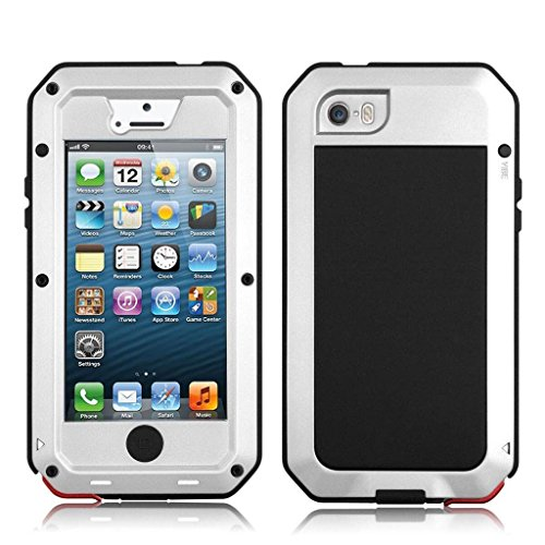 NEW Waterproof Shockproof Aluminum Gorilla Glass Metal Military - Metal Iphone 5 Bumper Case