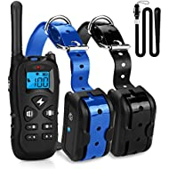 Mothca Dog Training Collar 2 Dogs With Remote 1800ft [2018 New Version] Waterproof Rechargeable with Beep/Vibration/Electric Shock Modes for Small Medium Large Dogs - No Problem Swimming/Shower