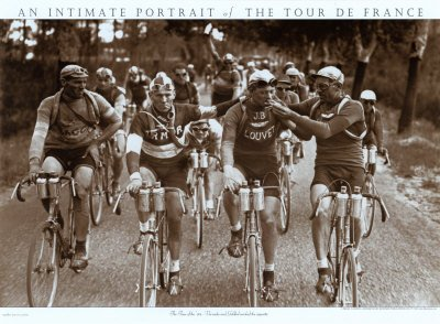 Smokers, A Tour de France Art Print Poster (Overall Size: 30 x 22) (Image Size: 30x19)