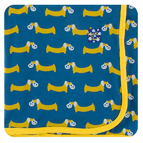 Pretzel Shape (KicKee Pants Little Boys Print Swaddling Blanket - Twilight Pretzel Pup, One Size)