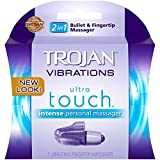 trojan Vibrations Ultra Touch Intense Vibrating Fingertip & Condom Personal Massager - Buy Packs and SAVE (Pack of 5)