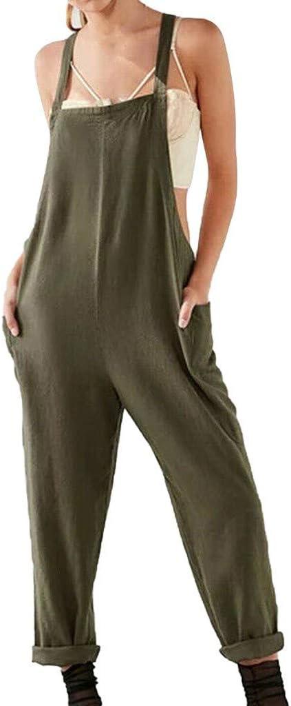 Women Maternity Jumpsuit Loose Pants Overalls Pregnancy Bib Loose Harem Trousers