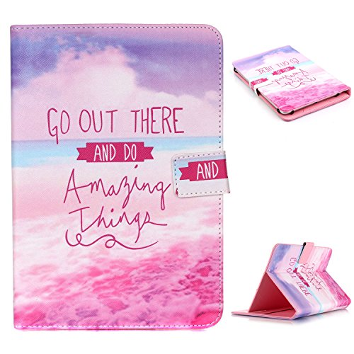 UZZO Universal 7 Inch Pink Life Quote Pattern Pu Leather ...