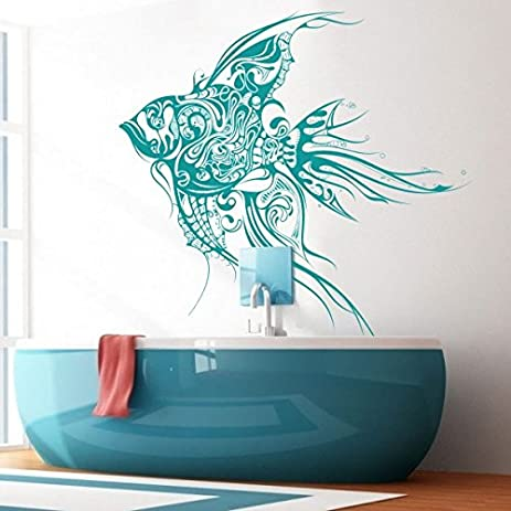 Fish Deep Sea Ocean Wall Decal Marine Fish Wall Sticker Tropical Fish Wall  Graphice Wall Mural