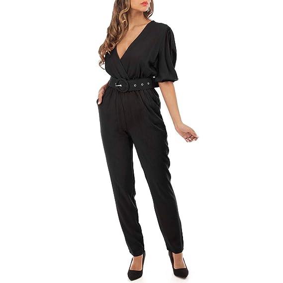 prix plus bas avec 719c1 9f7f7 La Modeuse - Combinaison Pantalon Noire: Amazon.fr ...