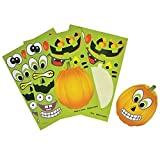 Make a Pumpkin Jack-o-lantern Halloween Sticker Sheets (24 Sheets)