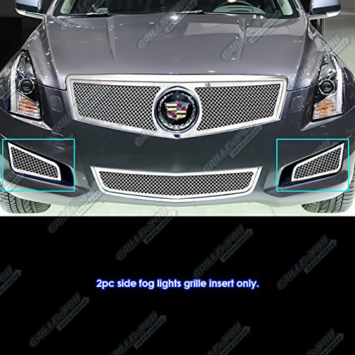 Fits 2013-2014 Cadillac ATS Fog Light Cover Mesh Grille Insert ()
