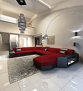 Modern Fabric Sofa PRATO XXL with LED Lights