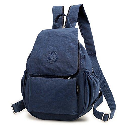 Waterproof Backpack Bags Pocket Women's Bag Casual Navy Nylon Rucksack Travel Multi School Laptop S6OAqB