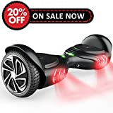 TOMOLOO Hoverboard with Smart Scooter Two-Wheel Self Balancing Electric Scooter and No Bluetooth No App with UL2272 Certified for Adults and Children. (Q2-BLACK)