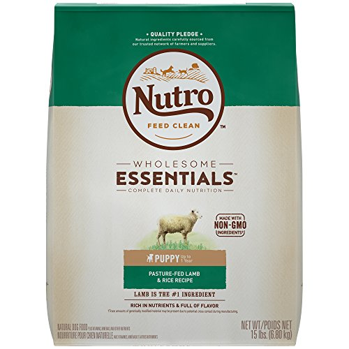 (NUTRO WHOLESOME ESSENTIALS Natural Puppy Dry Dog Food Pasture-Fed Lamb & Rice Recipe, 15 lb. Bag)