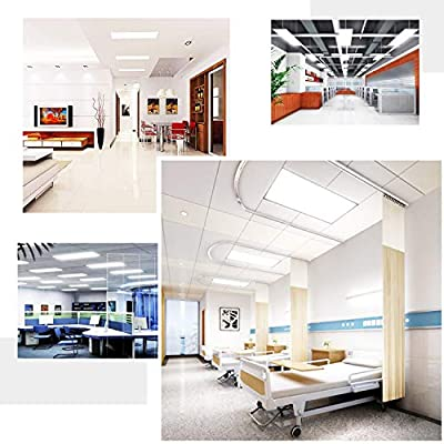 LED Panel Light, 2x4 FT, 4 Pack of 60W 5000K Daylight White Ceiling Flat Panel Light, 100-277VAC (4 Pack of 2x4FT)
