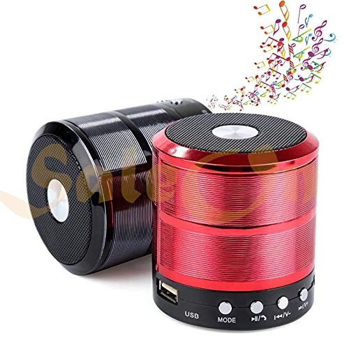 SaleOn Mini Bluetooth Speaker Portable Outdoor Loudspeaker Wireless Speaker Support Aux, Memory Card USB  Mix Colors
