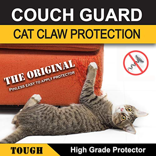 COUCH GUARD Upholstery CAT Claw Protector. Includes 2 SELF-Adhesive PROTECTOTS 18