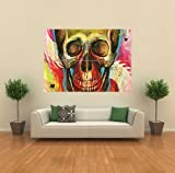 GRAFFITI SKULL COLOURS GIANT POSTER WALL ART PICTURE G853