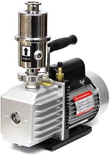 Across International EV7.110 Ai Easyvac 7 CFM Vacuum Pump with Exhaust Oil Mist Filter Fittings, 110V 370W