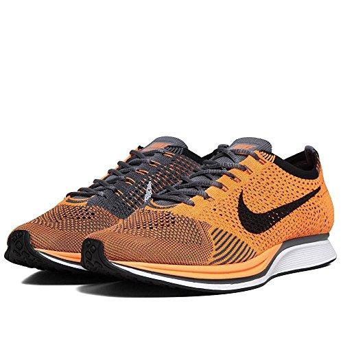 Nike Unisex Flyknit Strek Løpesko Total Oransje / Hvit-grå