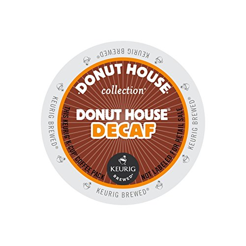 Donut House Collection Light Roast K-Cup for Keurig Brewers, Donut House Decaf Coffee (Pack of 96)