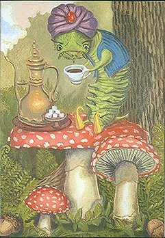 Alice in Wonderland's 'The Caterpillar' --artist's blank notecards (set of 3)]()