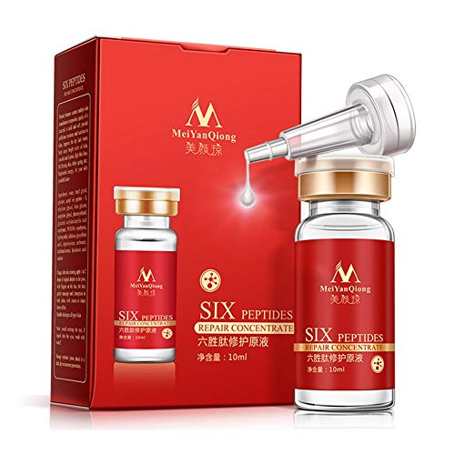 - Face Serum Six Peptides Repair Concentrate Rejuvenation Anti-aging Essence Anti Wrinkle, Eye Bags, Crow's Feet, Nasolabial Folds, Glycerol, Snail, Botulinum Toxin Composition, Smooth Wrinkles (5 pcs)