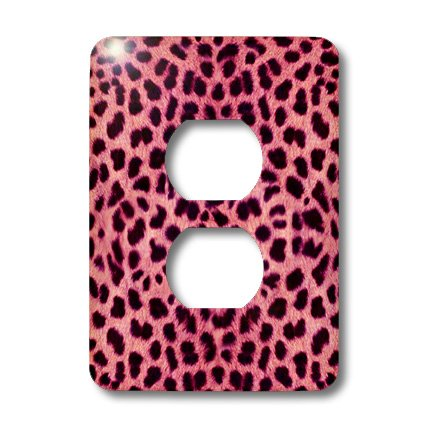 3dRose lsp_20341_6 Pink Cheetah Animal Print 2 Plug Outlet Cover (Cheetah Print Light Switch Cover)