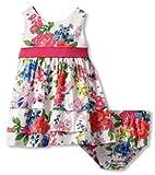 51dpKIoEctL. SL160  Hartstrings Baby Girls Infant Sateen Floral Dress, White Floral, 12 Months