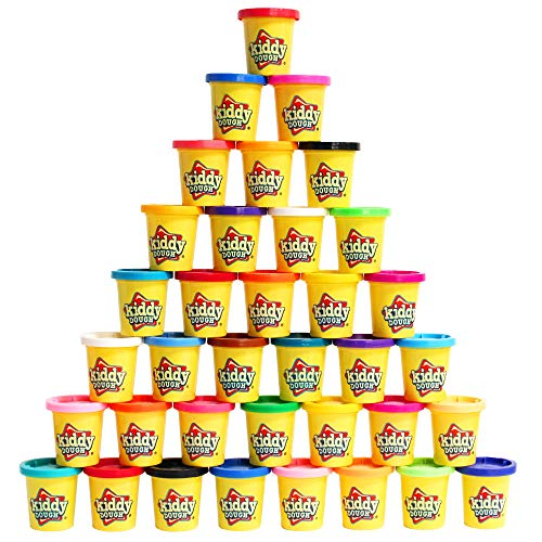 Kiddy Dough Compound 36 Pack of Color Dough - Mega Modeling & Sculpting Playset With 36 Individual 3-Ounce Cans Exclusive Bulk Party Pack - Non-Toxic - Conforms to ASTM D4236 ()